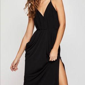 BCBG black pocket dress